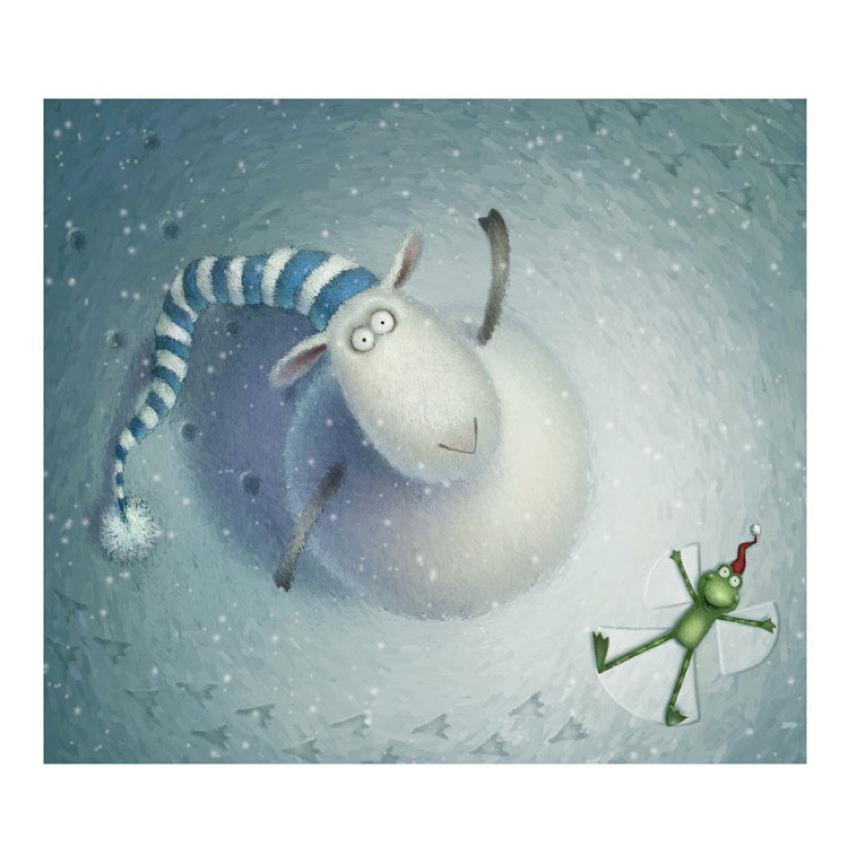 Иллюстратор Роб Скотт и его овечка